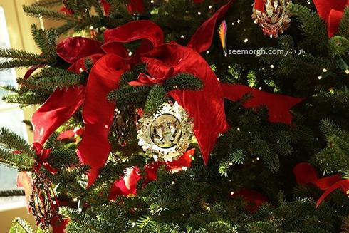 دکوراسيون کريسمسي کاخ سفيد به پيشنهاد ملانيا ترامپ - عکس شماره 12
