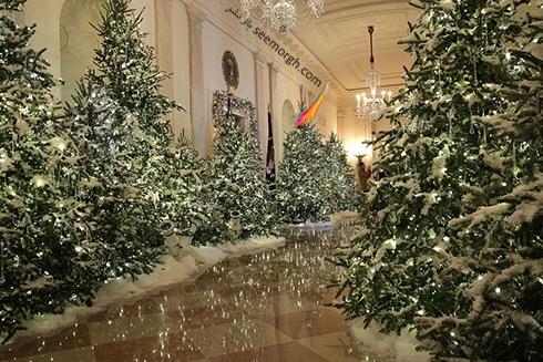 دکوراسیون کریسمسی کاخ سفید به پیشنهاد ملانیا ترامپ - عکس شماره 9