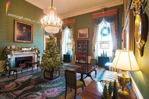 دکوراسيون کريسمسي کاخ سفيد به پيشنهاد ملانيا ترامپ - عکس شماره 7