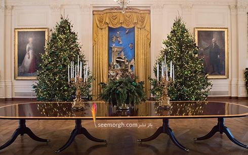 دکوراسیون کریسمسی کاخ سفید به پیشنهاد ملانیا ترامپ - عکس شماره 4