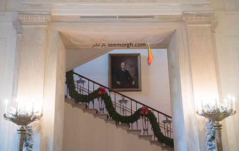 دکوراسیون کریسمسی کاخ سفید به پیشنهاد ملانیا ترامپ - عکس شماره 3