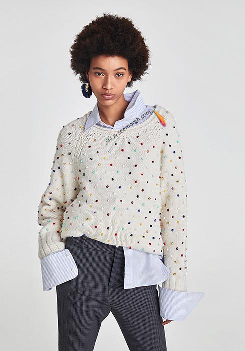 پليور زنانه زارا Zara براي زمستان 2017 - عکس شماره 3