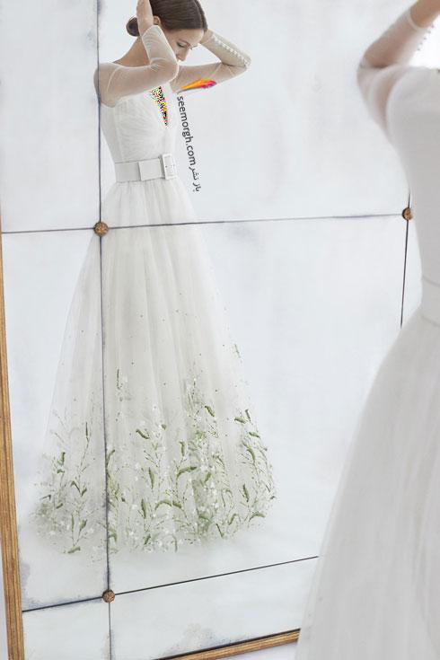 لباس عروس 2018 از کلکسیون زمستانی کارولینا هررا Carolins Herrera - مدل لباس عروس شماره 1
