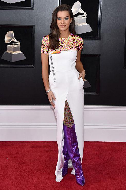 مدل لباس هایلی استنفیلد Hailee Steinfeld در جایزه گرمی 2018 Grammy