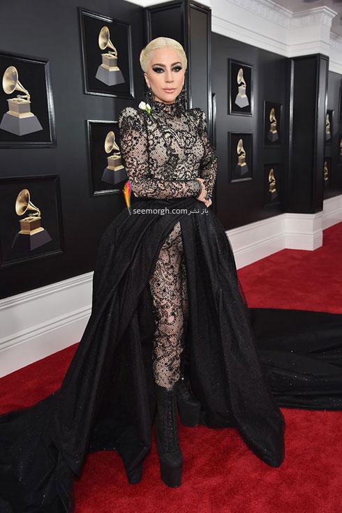 مدل لباس لیدی گاگا Lady Gaga در جایزه گرمی 2018 Grammy