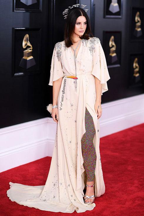 مدل لباس لانا دل ری Lana del Rey در جایزه گرمی 2018 Grammy
