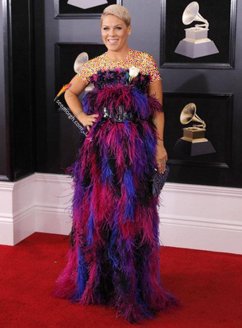 مدل لباس پینک Pink در جایزه گرمی 2018 Grammy