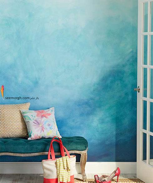 تزیین دیوار اتاق خواب با طرح های ابر و باد