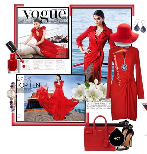 ست کردن لباس به سبک آيشواريا راي Aishwarya rai براي ولنتاين 2018 - عکس شماره 4