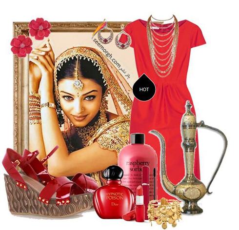ست کردن لباس به سبک آيشواريا راي Aishwarya rai براي ولنتاين 2018 - عکس شماره 3