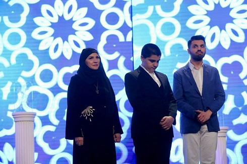 Ali Teacher's wife and children at the opening ceremony of the thirty-sixth Fajr Festival.jpg