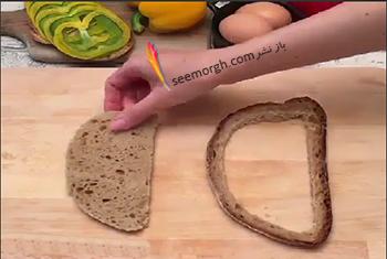 مرحله اول درست کردن نان شکم پر برای صبحانه