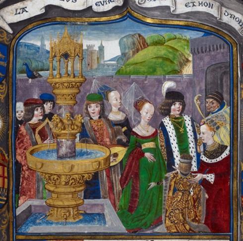 مینیاتوری از جزئیات « دادگاه عشق » در قرن ۱۵