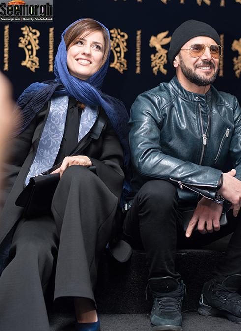 سارا بهرامی و امین حیایی در جشنواره فجر