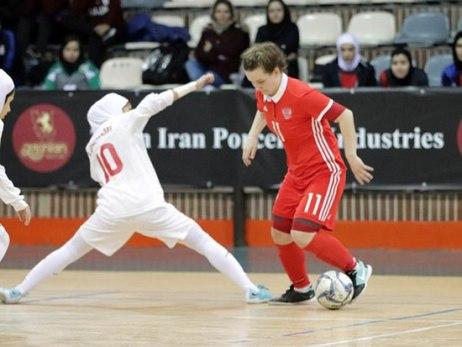 بازی فوتسال بانوان ایران و روسیه 2