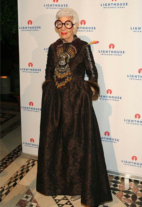 مدل لباس آیریس آپفل iris apfel مادربزرگ شیک پوش دنیای مد - ع شماره 14