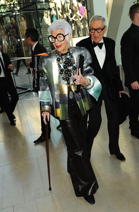 مدل لباس آیریس آپفل iris apfel مادربزرگ شیک پوش دنیای مد - ع شماره 13