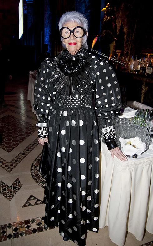 مدل لباس آیریس آپفل iris apfel مادربزرگ شیک پوش دنیای مد - ع شماره 12