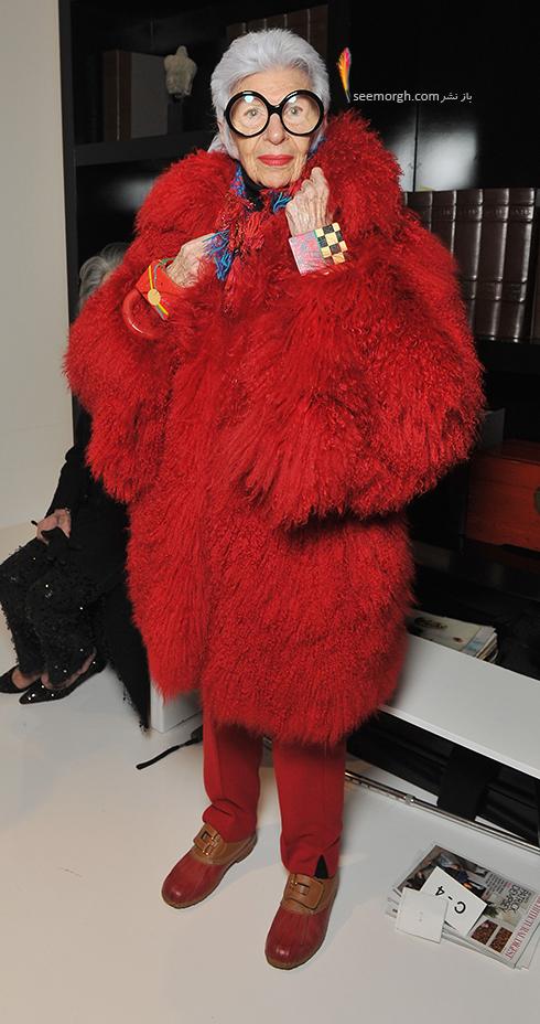 مدل لباس آیریس آپفل iris apfel مادربزرگ شیک پوش دنیای مد - ع شماره 2
