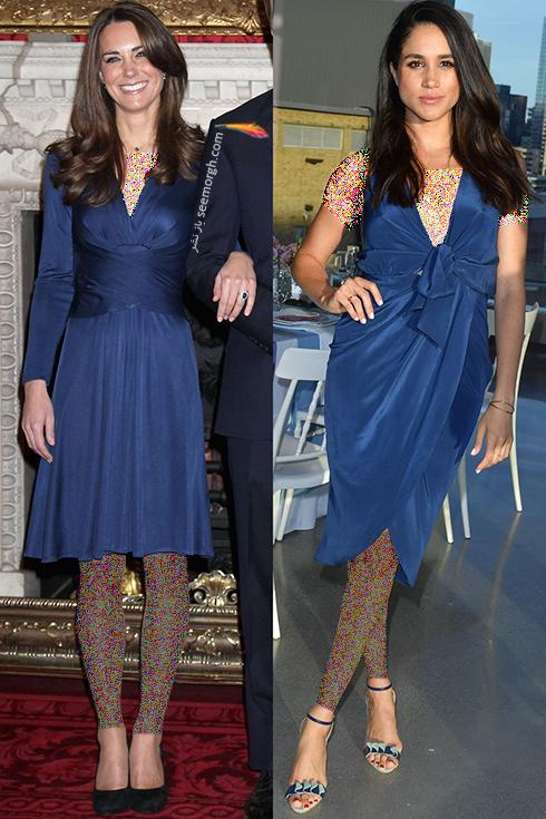 مدل لباس,کيت ميدلتون,مگان ماذکل,مدل لباس کيت ميدلتون,مدل لباس مگان مارکل,مدل لباس هايي که کيت ميدلتون و مگان مارکل دقيقا مانند هم پوشيدند - عکس شماره 6