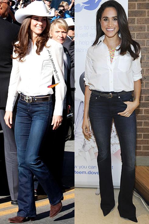 مدل لباس,کیت میدلتون,مگان ماذکل,مدل لباس کیت میدلتون,مدل لباس مگان مارکل,مدل لباس هایی که کیت میدلتون و مگان مارکل دقیقا مانند هم پوشیدند - عکس شماره 7