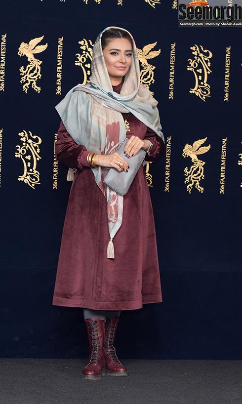 مدل مانتو بازیگران در پنجمین روز جشنواره فجر 96 - لیندا کیانی