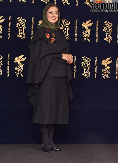 مدل مانتو بازیگران در پنجمین روز جشنواره فجر 96 - شبنم مقدمی