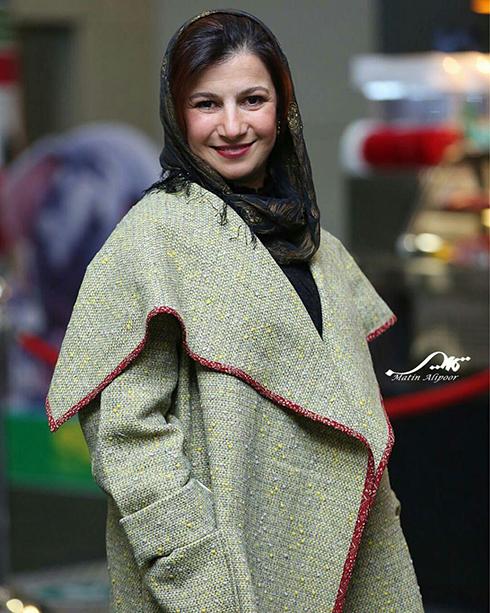 مدل مانتو بازيگران در چهارمين روز سي و ششمين جشنواره فجر - ليلي رشيدي