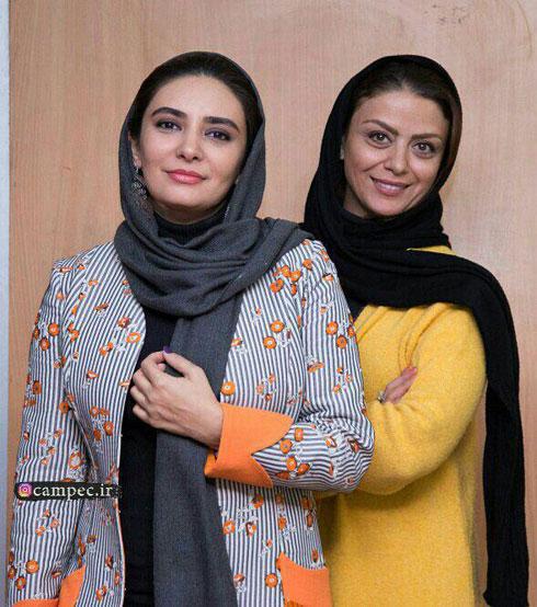 مدل مانتو بازيگران در آخرين روز جشنواره فجر 96 - شبنم فرشادجو و ليندا کياني
