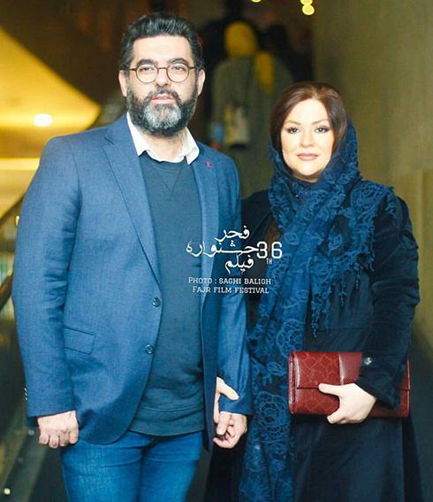 مدل مانتو بازيگران در چهارمين روز سي و ششمين جشنواره فجر - همسر مصطفي کيايي