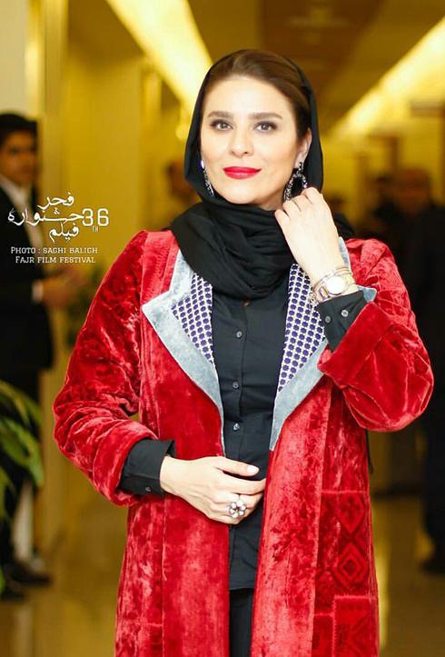 مدل مانتو بازيگران در اختتاميه جشنواره فجر 36 - سحر دولتشاهي