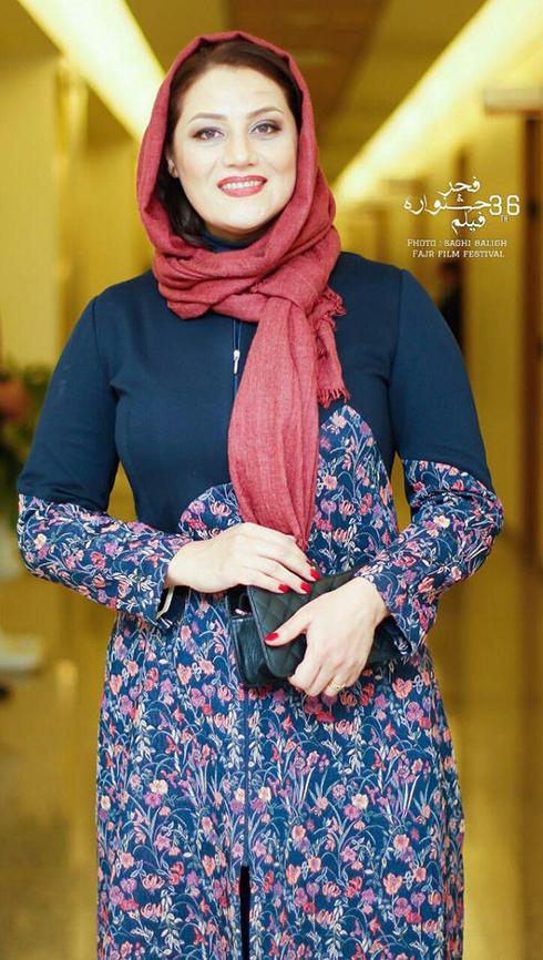 مدل مانتو بازيگران در اختتاميه جشنواره فجر 36 - شبنم مقدمي