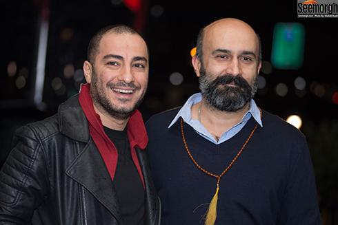 علی جلیلوند و نوید محمدزاده در اکران خصوصی بدون تاریخ بدون امضا