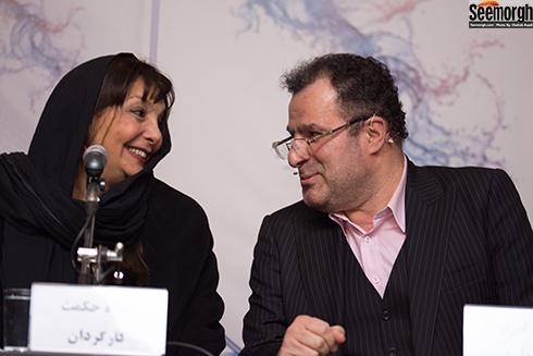 محمود گبرلو و منیژه حکمت در نشست خبری جاده قدیم در جشنواره فجر 36