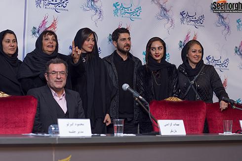 عوامل فیلم جاده قدیم در نشست خبری این فیلم در جشنواره فیلم فجر 96