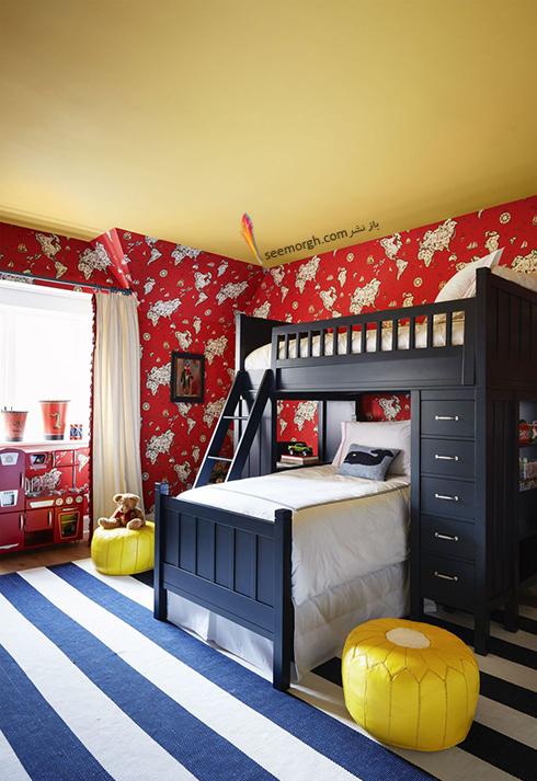 استفاده از رنگ قرمز دردکوراسیون اتاق خواب کودک