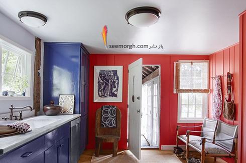 استفاده از رنگ قرمز در دکوراسیون آشپزخانه