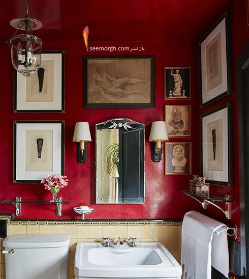 رنگ قرمز در دکوراسیون داخلی حمام