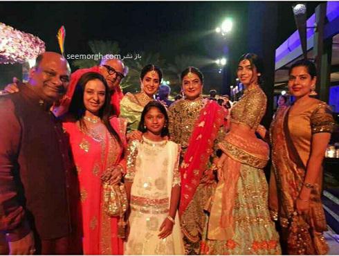 سری دیوی در مراسم عروسی