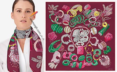 مدل روسری 2018 هرمس Hermes برای نوروز - مدل شماره 3