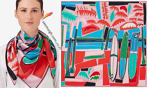مدل روسری 2018 هرمس Hermes برای نوروز - مدل شماره 12