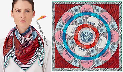 مدل روسری 2018 هرمس Hermes برای نوروز - مدل شماره 10