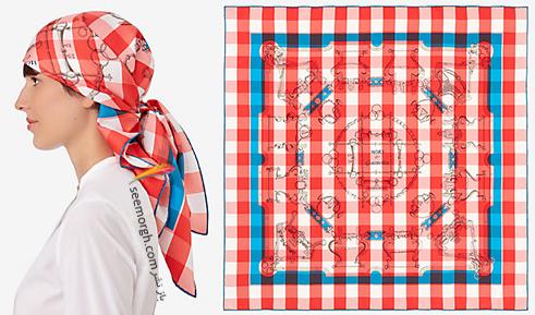 مدل روسری 2018 هرمس Hermes برای نوروز - مدل شماره 9
