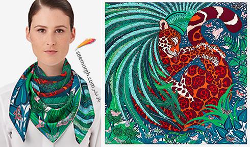 مدل روسری 2018 هرمس Hermes برای نوروز - مدل شماره 7