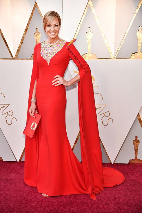 بهترین مدل لباس در مراسم اسکار Oscar 2018 - آلیسون جیسی Allison Janney