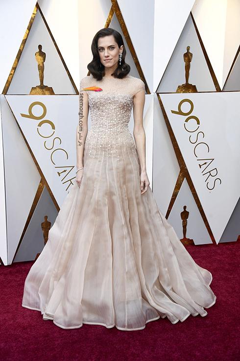 بدترین مدل لباس در مراسم اسکار 2018 Oscar - آلیسون ویلیامز Allison Williams