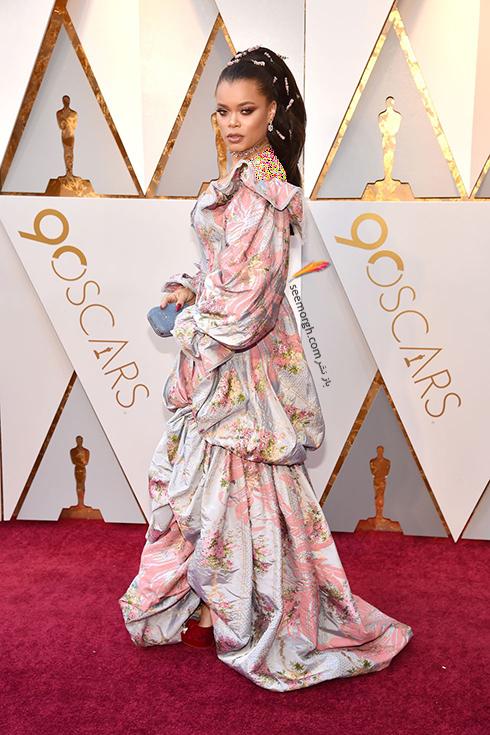 بدترین مدل لباس در مراسم اسکار 2018 Oscar - آندرا دی Andra Day