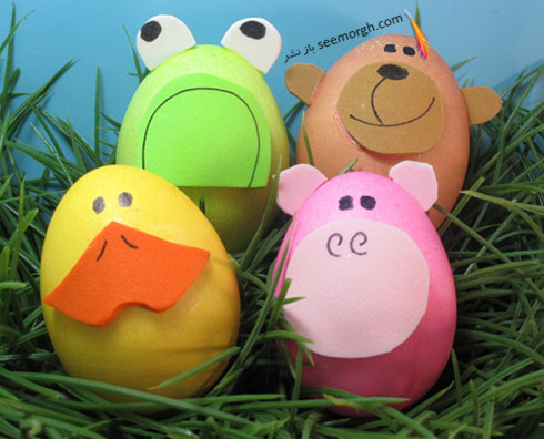 تزیین تخم مرغ هفت سین برای کودکان - عکس شماره 9