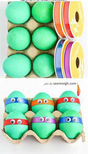 تزیین تخم مرغ هفت سین برای کودکان - عکس شماره 11
