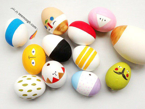 تزیین تخم مرغ هفت سین برای کودکان - عکس شماره 17